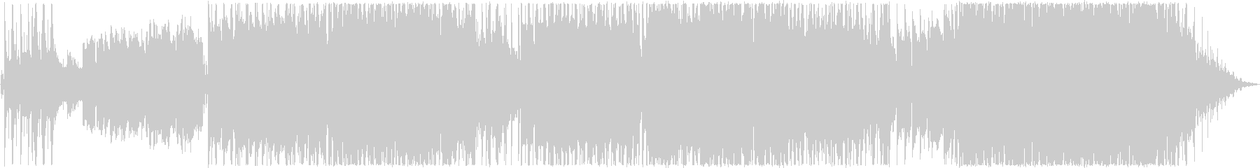 明るく切ないバラードの未再生の波形