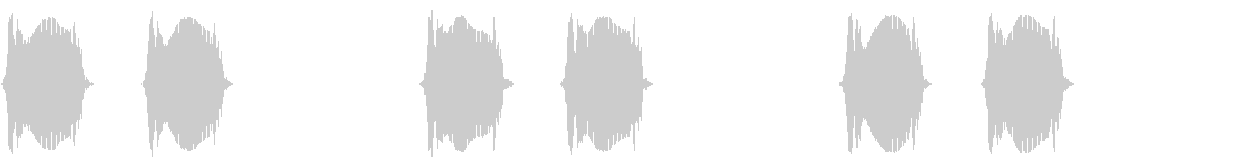 携帯電話 バイブレーション02-01(クの未再生の波形
