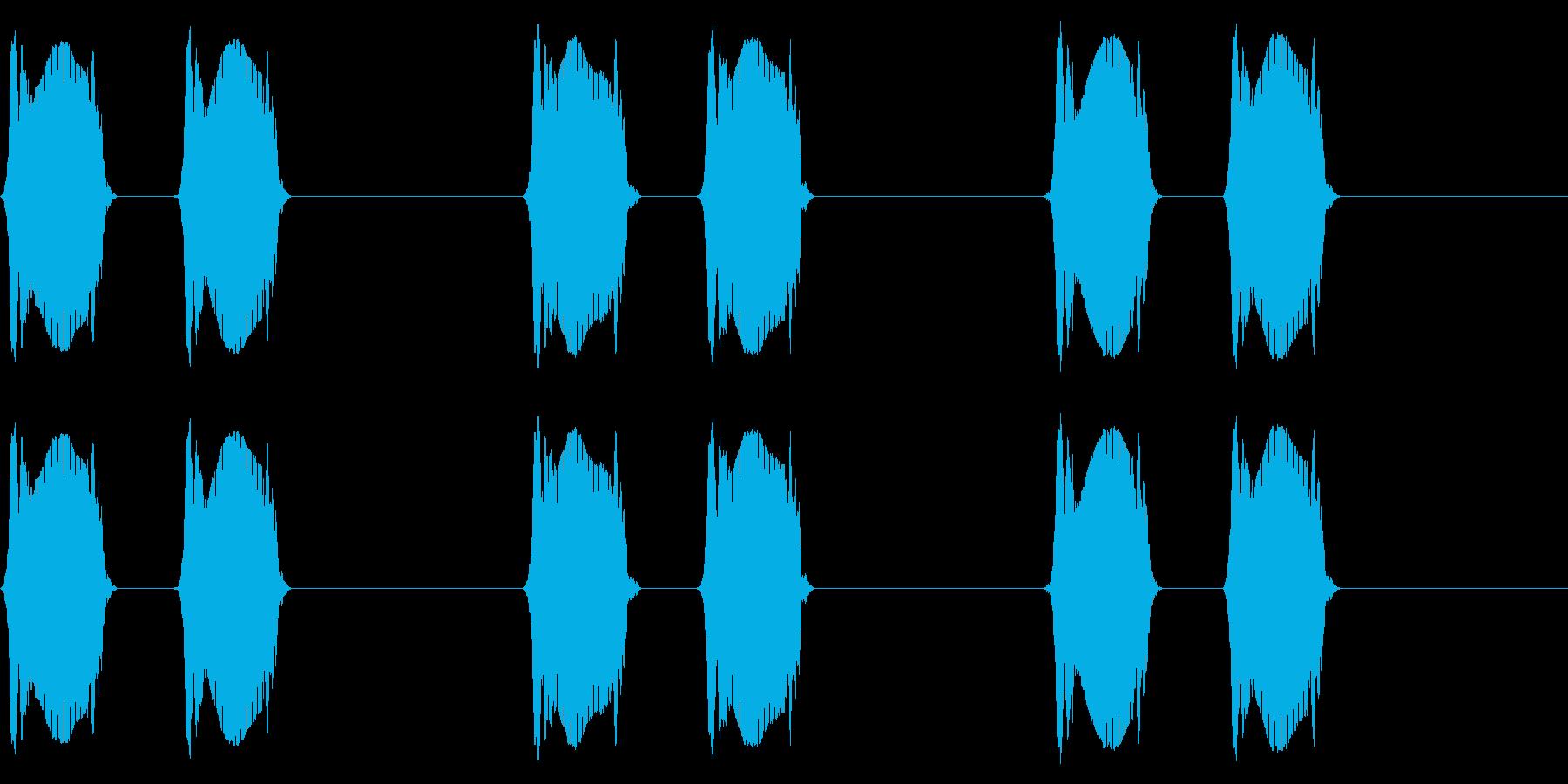 携帯電話 バイブレーション02-01(クの再生済みの波形