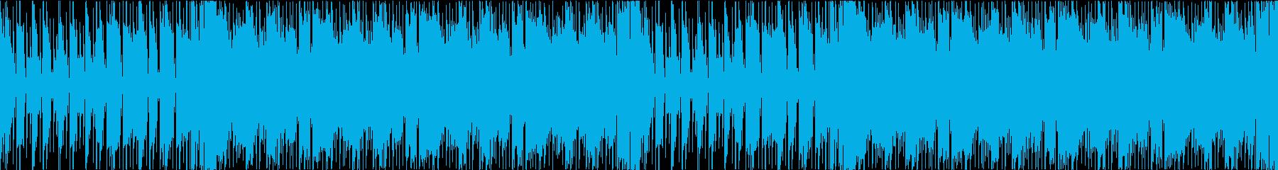 緊張感のあるギター系インストの再生済みの波形