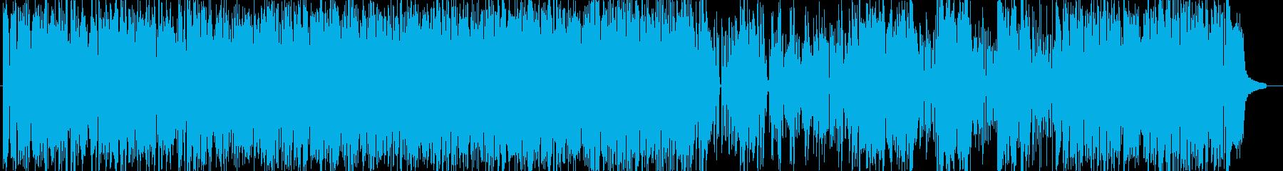 軽快なブルースピアノの再生済みの波形