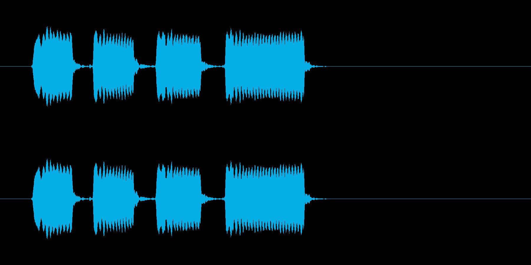 ピピピピッ◆ホイッスル/競技、交通整理の再生済みの波形