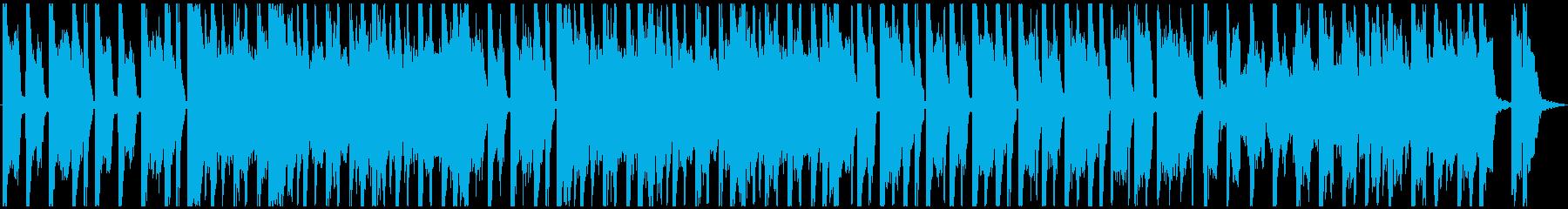 スイングミュージックとハウスビート...の再生済みの波形