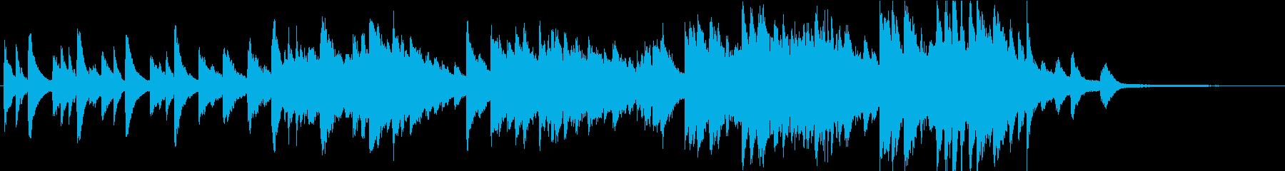 ファンタジックなピアノ曲の再生済みの波形