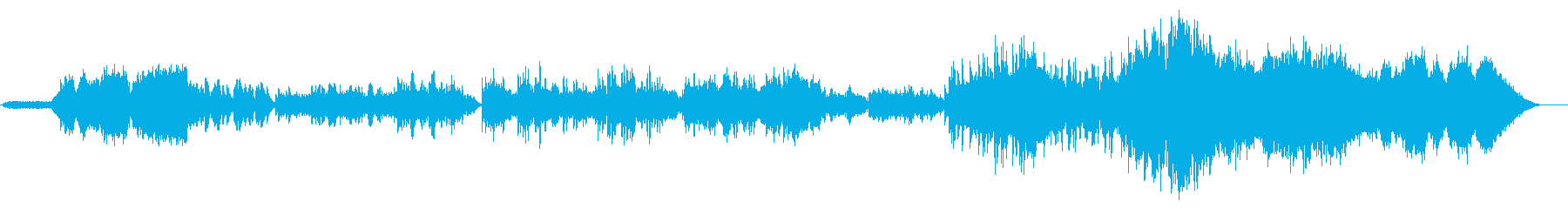 北国の厳しい冬を表現したピアノメインの曲の再生済みの波形