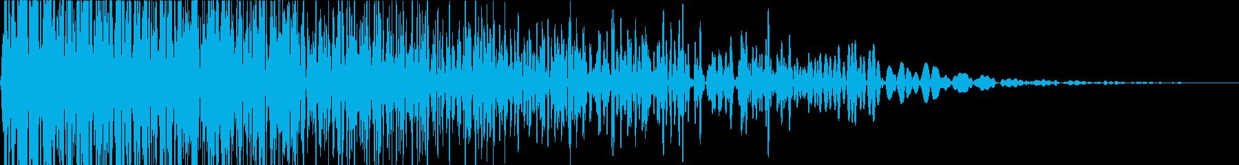 ビューン(ゲーム/移動音/効果音)の再生済みの波形