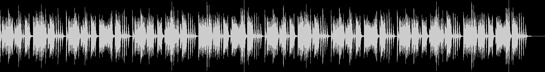 明るく可愛らしいコミカルなピアノのBGMの未再生の波形