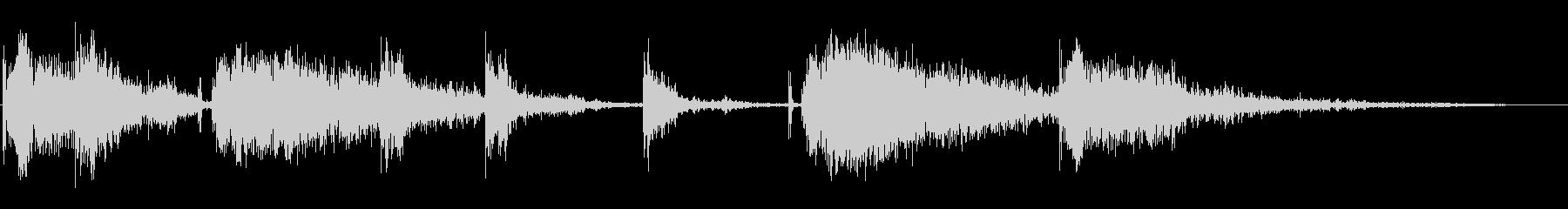 105MM:複数のラウンド、ガンキャノンの未再生の波形