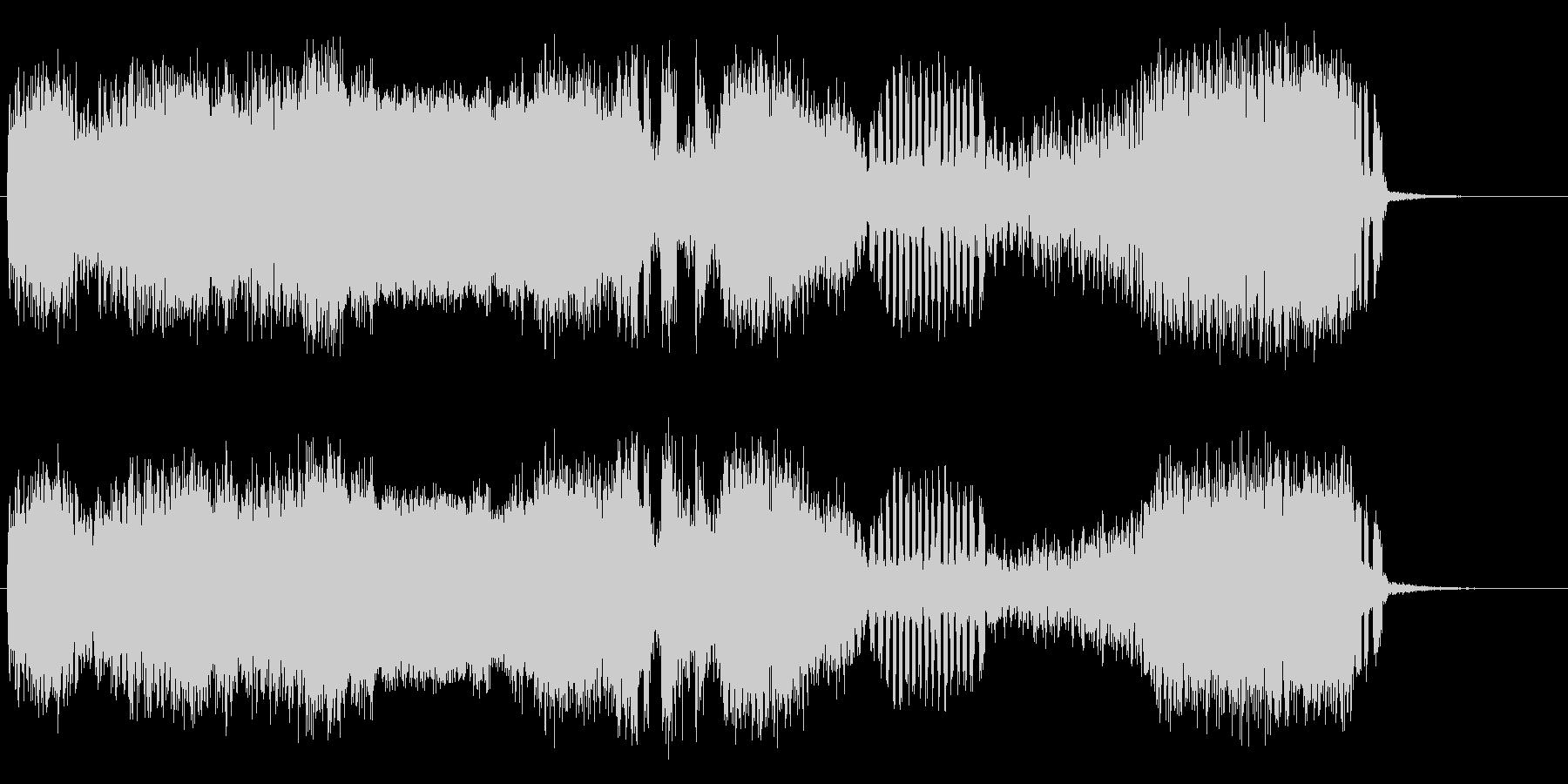 マイナー乱気流の未再生の波形