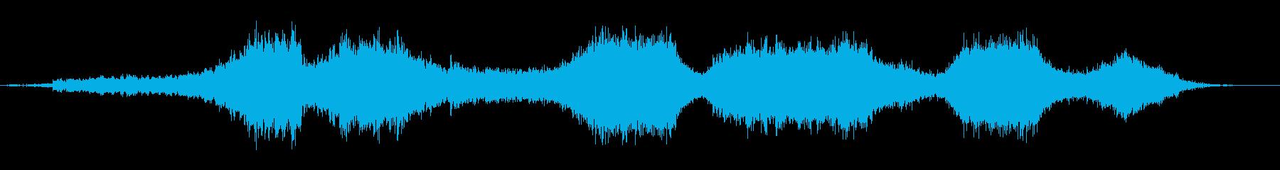 少し怖い不気味な雰囲気のBGMの再生済みの波形