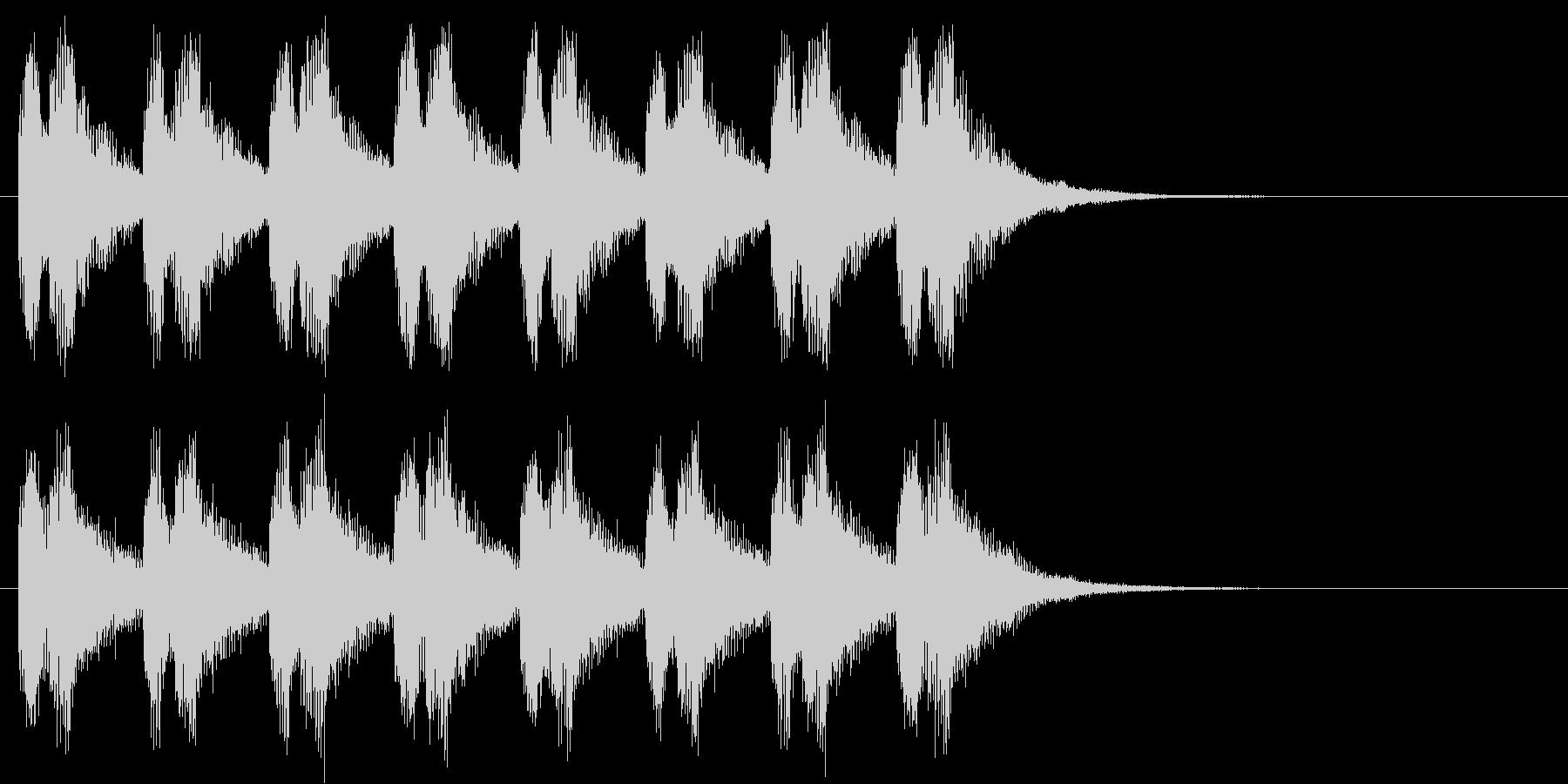 警告・警報・サイレン・ブザー#7(残響)の未再生の波形
