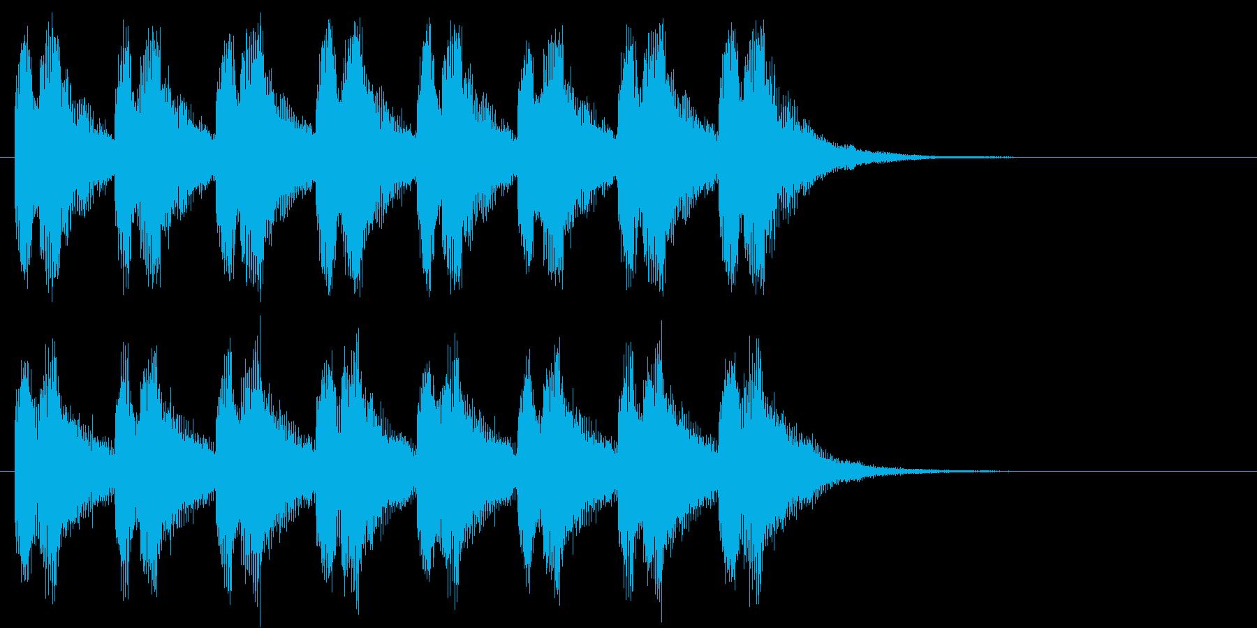 警告・警報・サイレン・ブザー#7(残響)の再生済みの波形