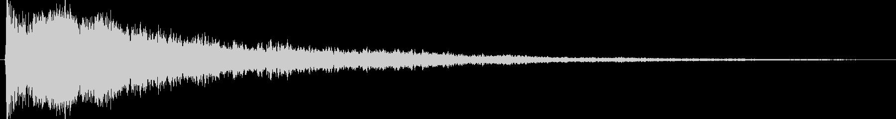 シャキーン!カキーン!というインパクト音の未再生の波形