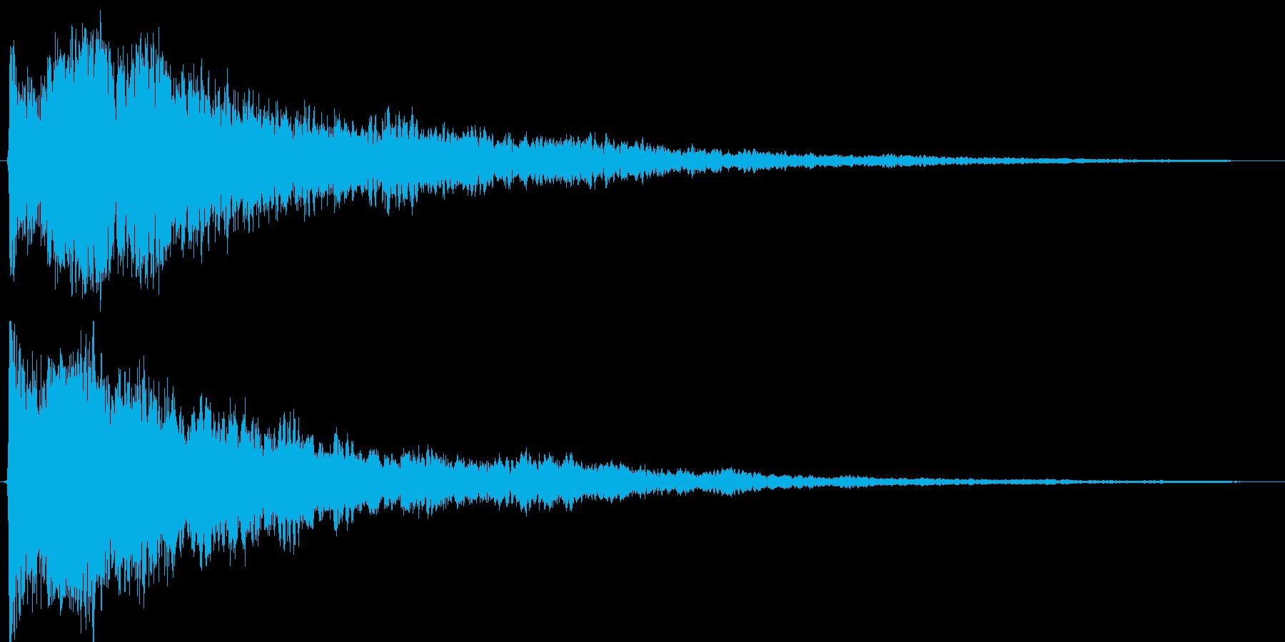 シャキーン!カキーン!というインパクト音の再生済みの波形