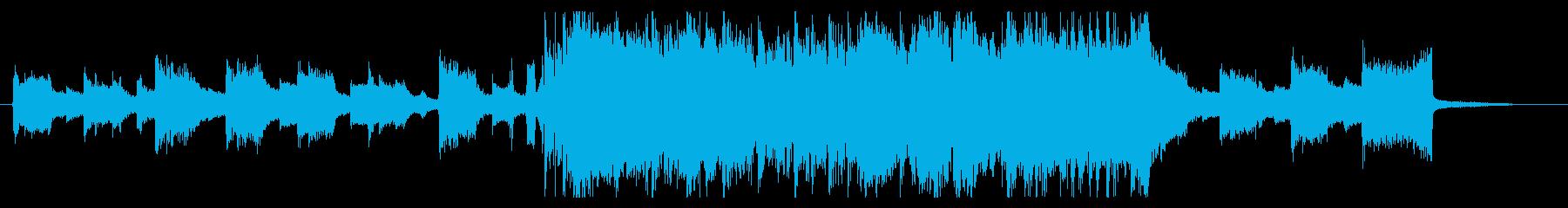 SNS向けオシャレ爽やか30秒ソングの再生済みの波形