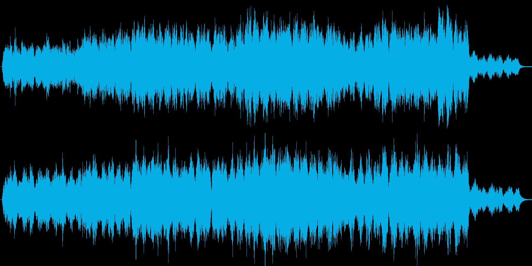 ゆったり落ちつきのある壮大なオーケストラの再生済みの波形