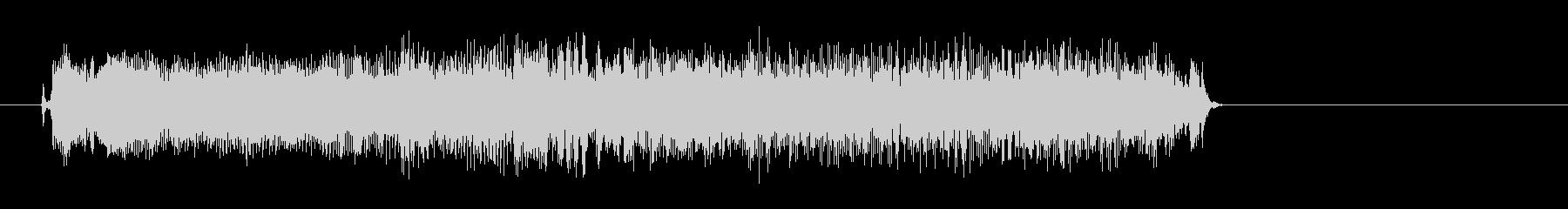 ロックギターによる場面転換音の未再生の波形