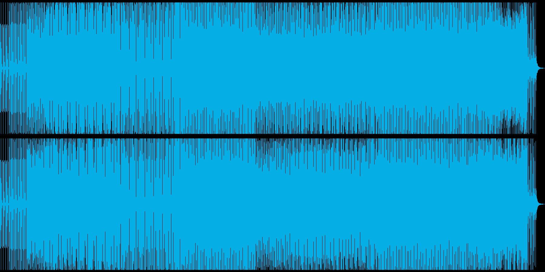 4つ打ちダンス系クラブミュージックの再生済みの波形