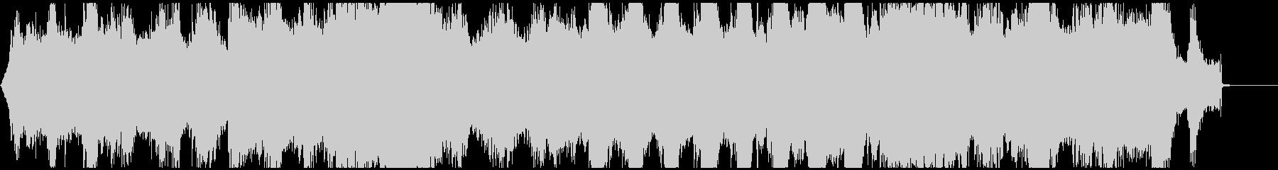 怪しく不気味なニュアンスのBGMの未再生の波形