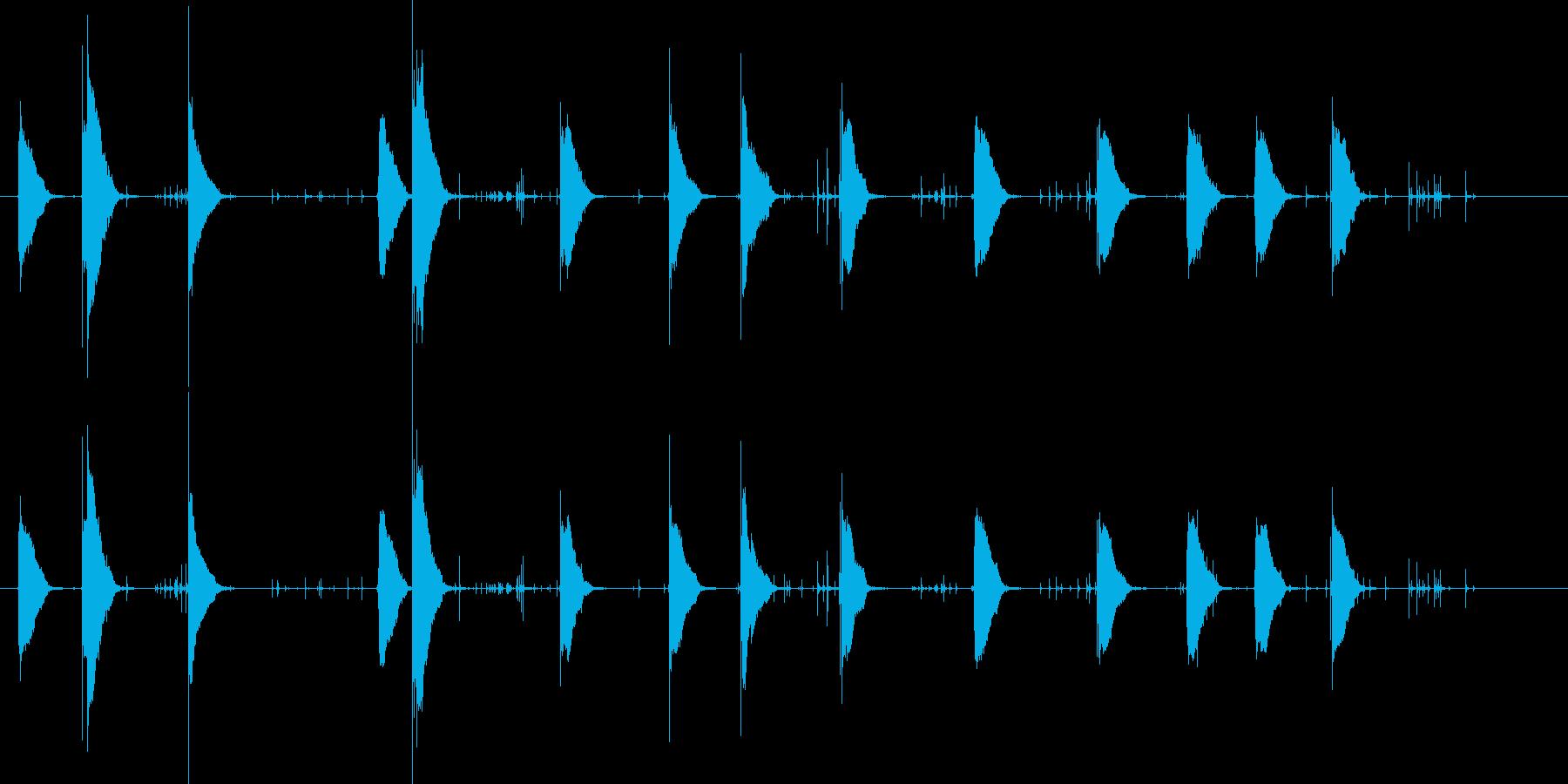 花火の口sの再生済みの波形