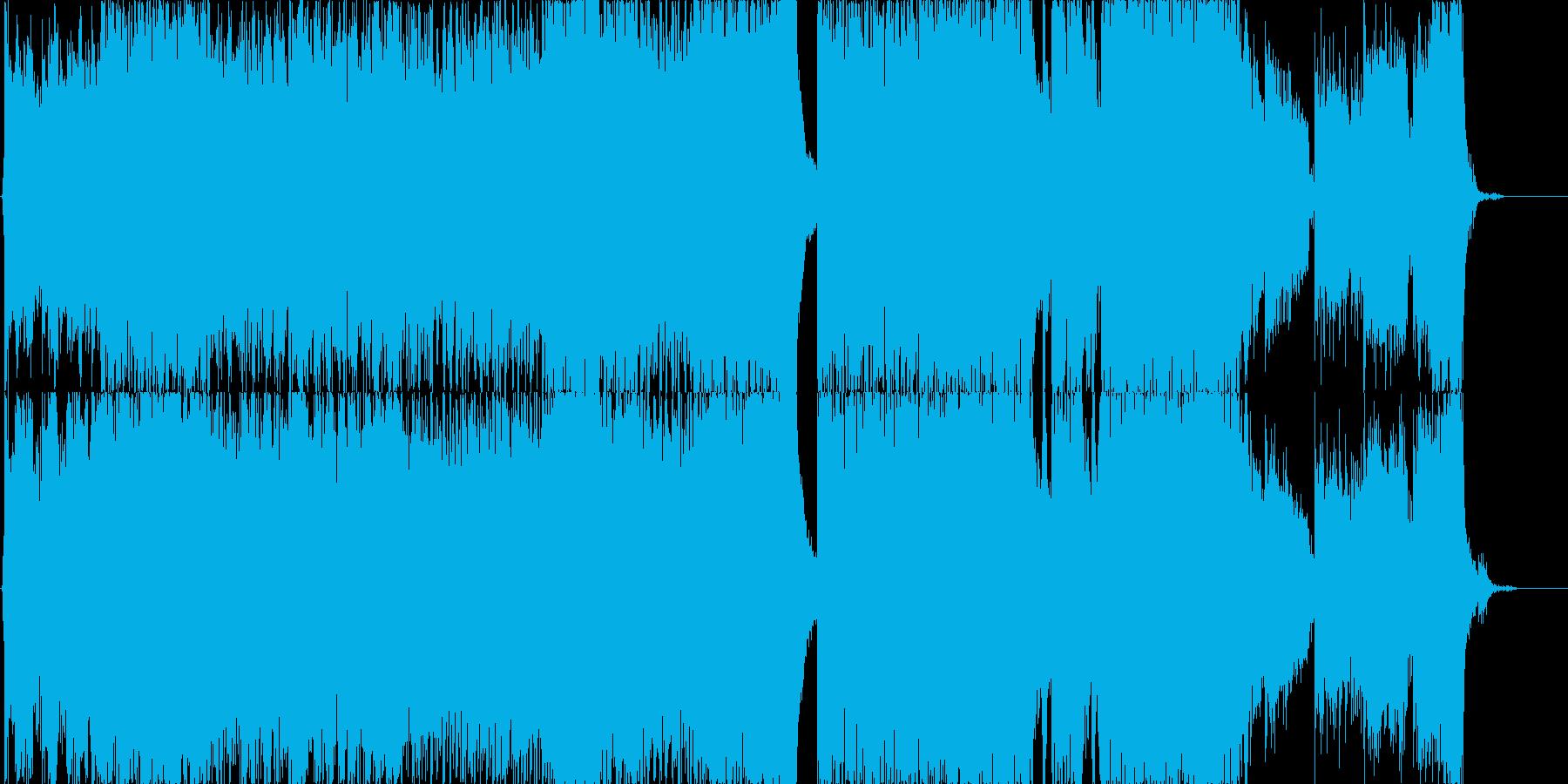 エピックで荘厳なトレイラー風の曲の再生済みの波形