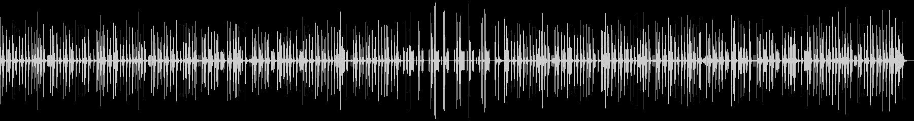 ほのぼのした雰囲気のBGM2の未再生の波形