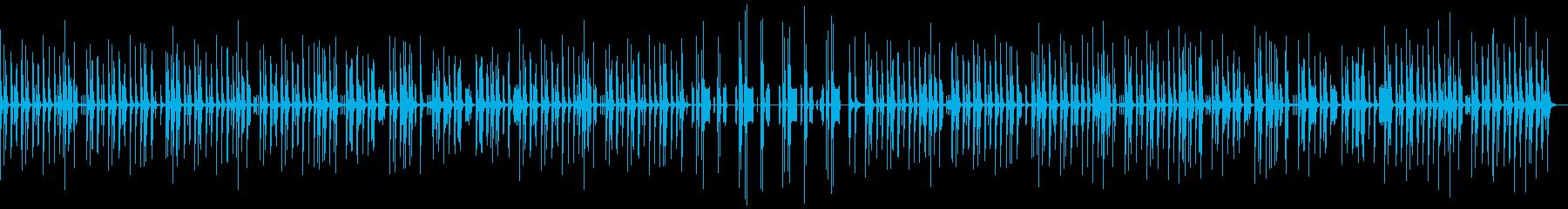 ほのぼのした雰囲気のBGM2の再生済みの波形