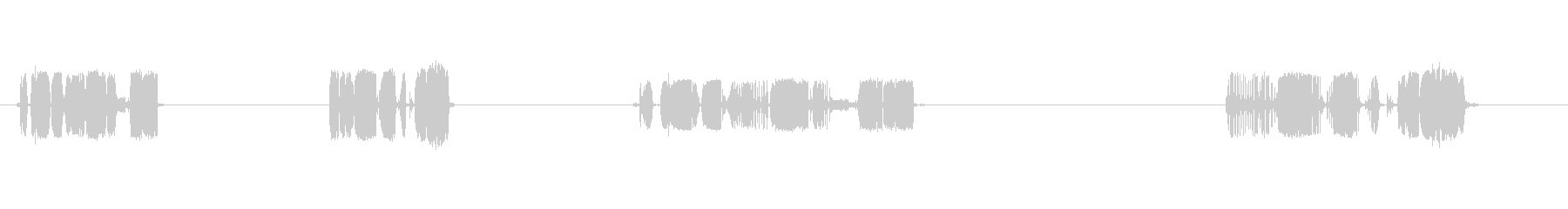 レコードプレーヤー:レコード全体の...の未再生の波形