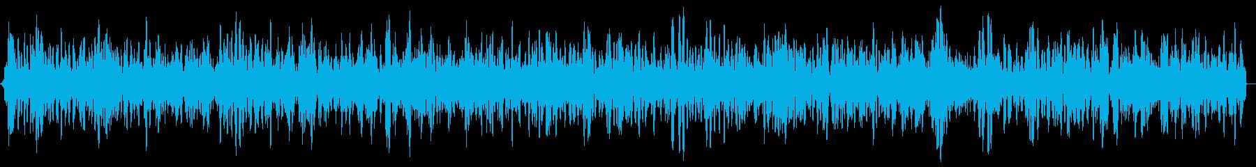沸騰する音、気泡風呂の音の再生済みの波形
