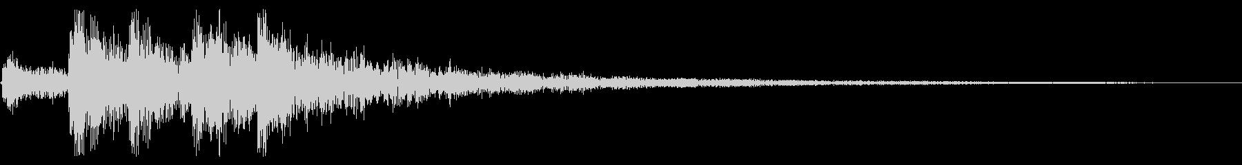 エンド グリッサンド 上昇 トイピアノの未再生の波形