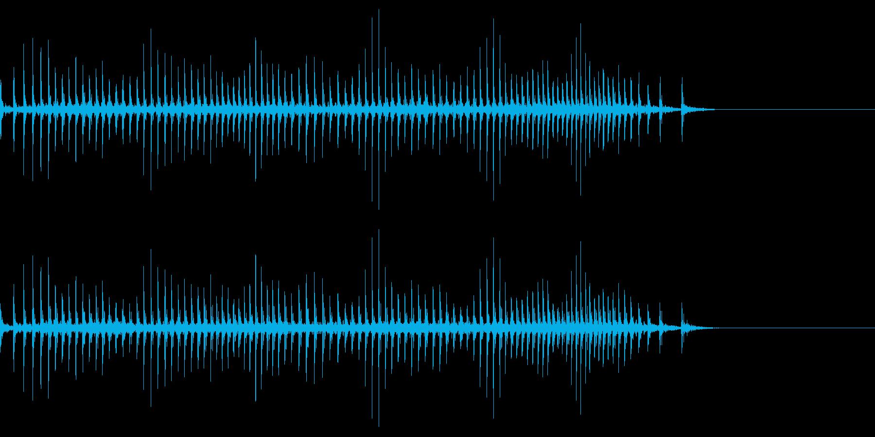 [生録音]魚釣り、リールを巻く08の再生済みの波形