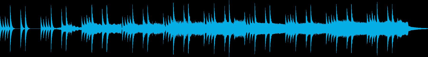 怖い雰囲気のBGMの再生済みの波形