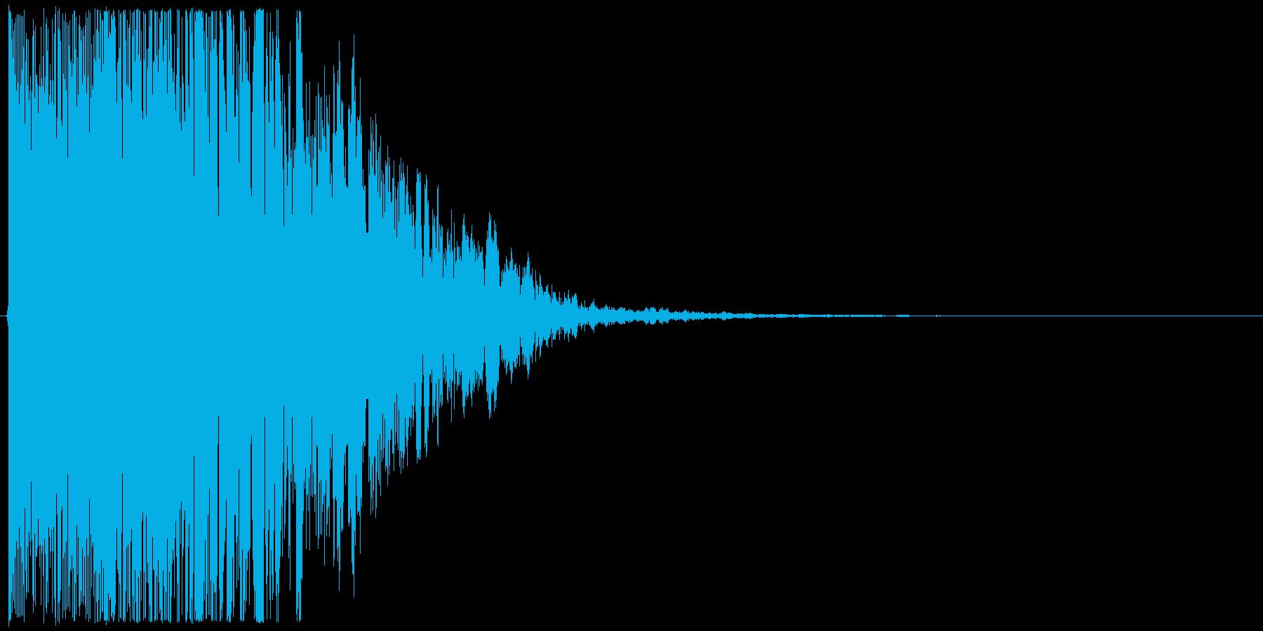 シャキーーーーン!(長めの決め技SE)の再生済みの波形