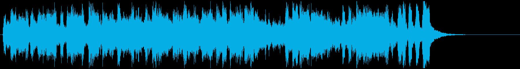 15秒CM向けの明るい陽気なラテンブラスの再生済みの波形