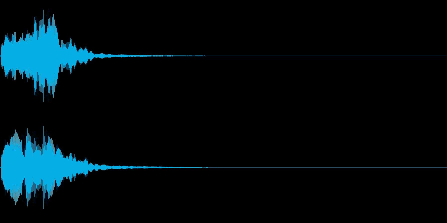 キラリン音A8 2音色×8フレーズの再生済みの波形