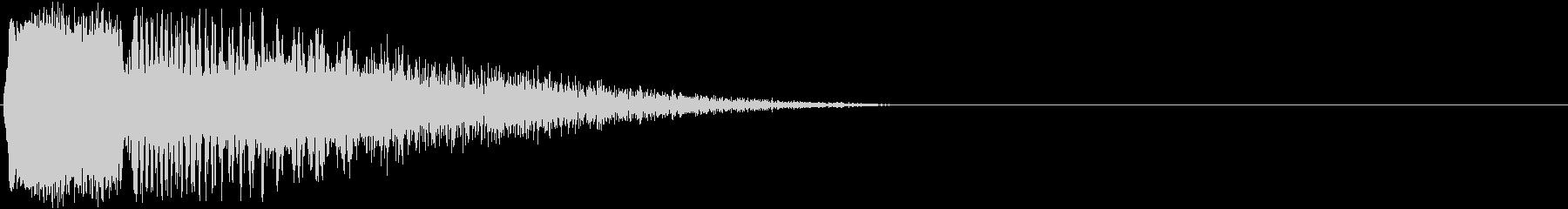 ビシューン(発射・レーザー攻撃・光線銃)の未再生の波形