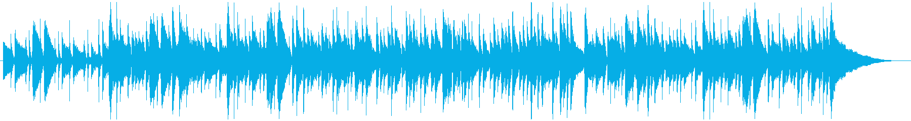 アコースティックギターのシンプル曲生演奏の再生済みの波形