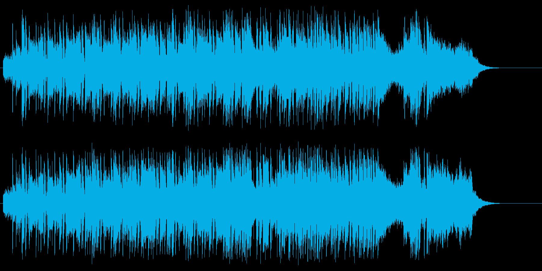 華やかな、BGMコマーシャルビデオ向けの再生済みの波形