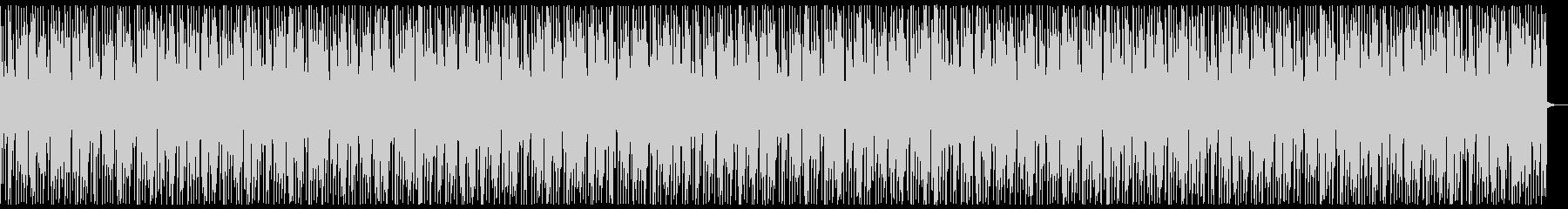 アップテンポでダンサブルなナンバーの未再生の波形