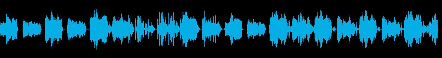 テクノ・電子音 怪獣映画サントラ風電子音の再生済みの波形