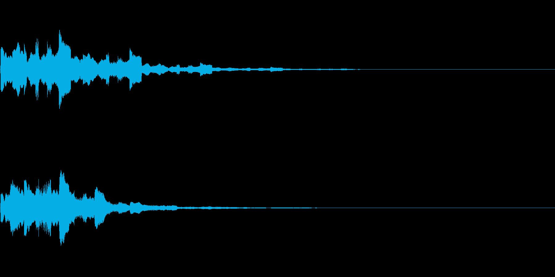 KANT入店音系アイキャッチ1回の再生済みの波形