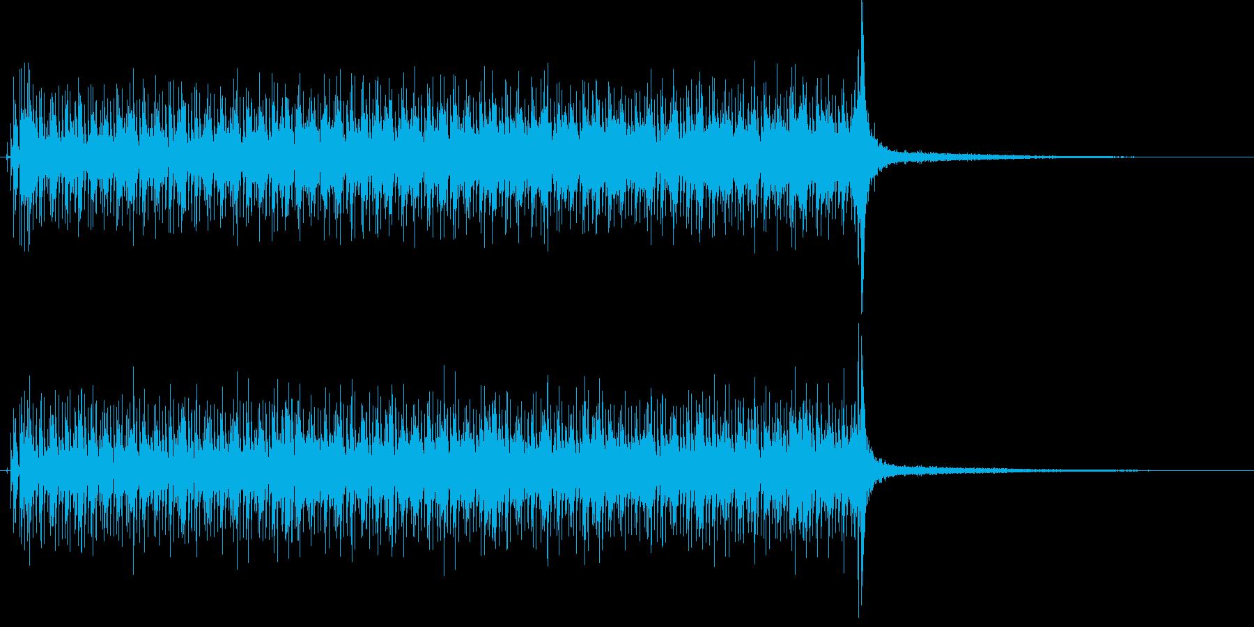 報道番組で使えるクールなサウンドの再生済みの波形
