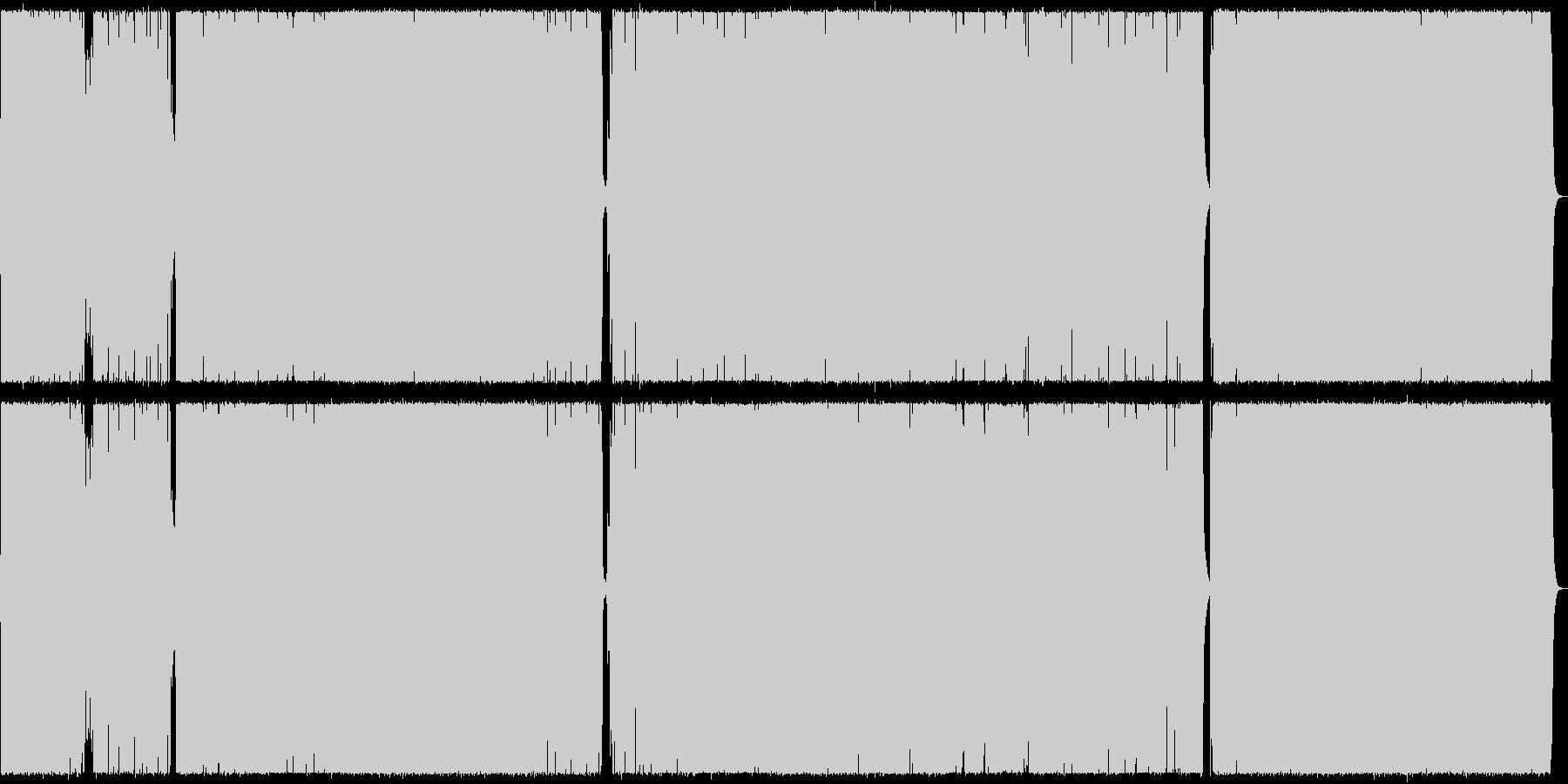 疾走感のあるロックの未再生の波形