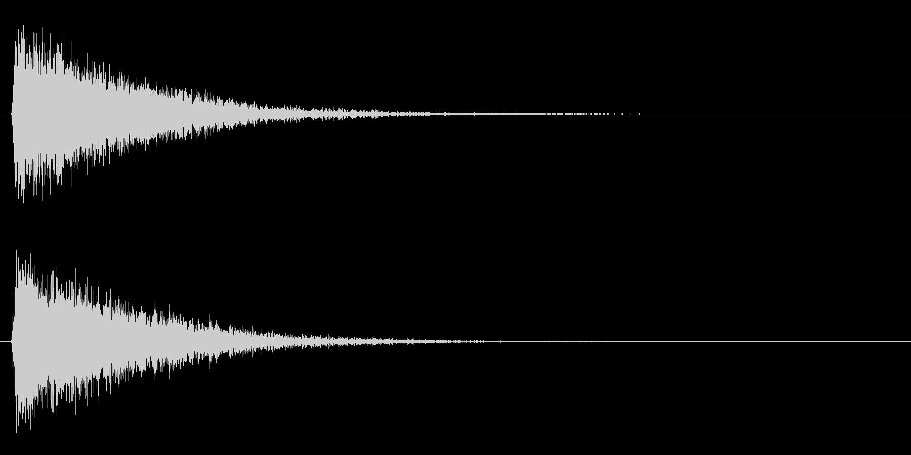 シューン/ワープ/移動の未再生の波形