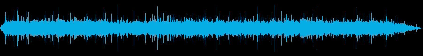雨 雨音(家、屋根、窓などに当たる音)9の再生済みの波形