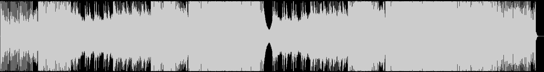 ピアノが爽やかなEDMの未再生の波形