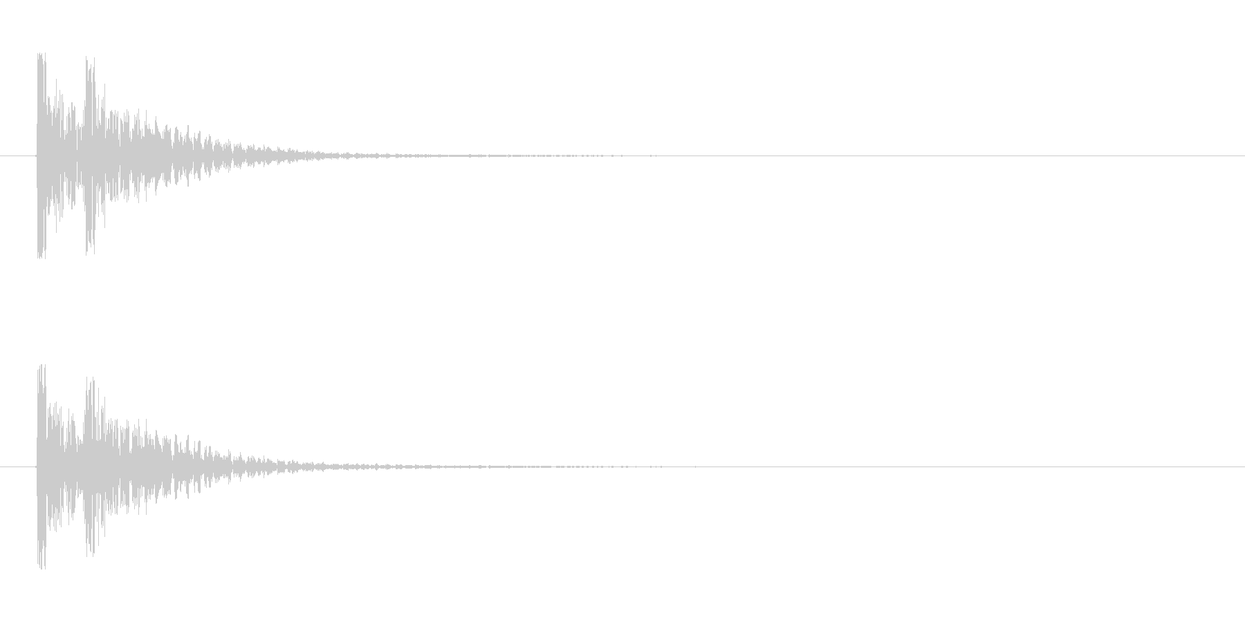 【衝撃03-2】の未再生の波形