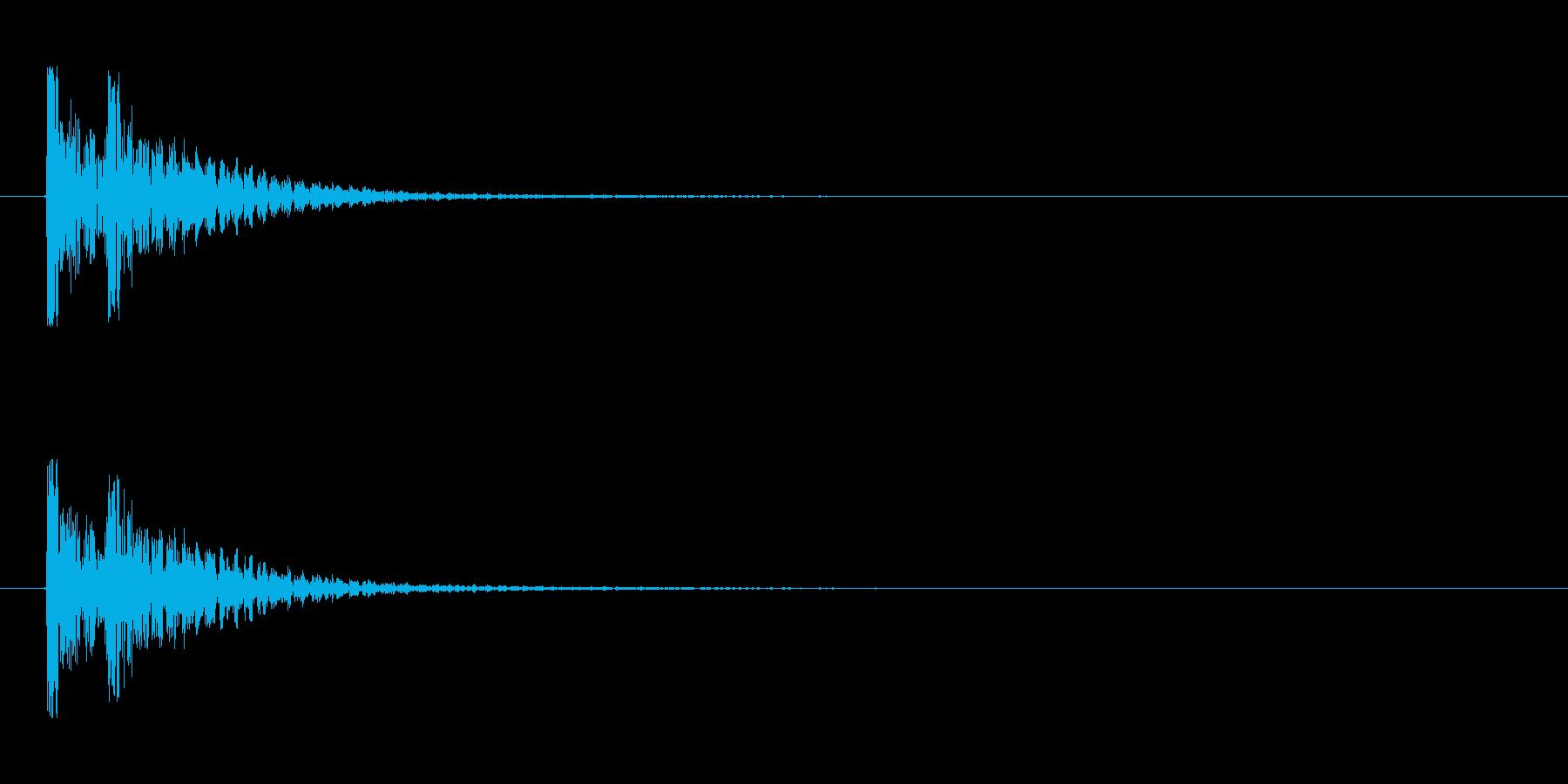 【衝撃03-2】の再生済みの波形