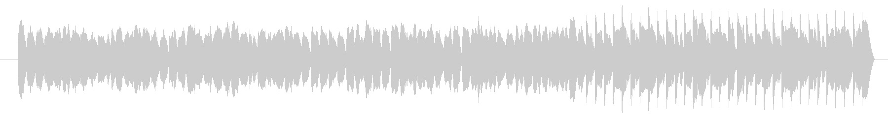 弾むイメージ、可愛いコミカルなシンセの曲の未再生の波形