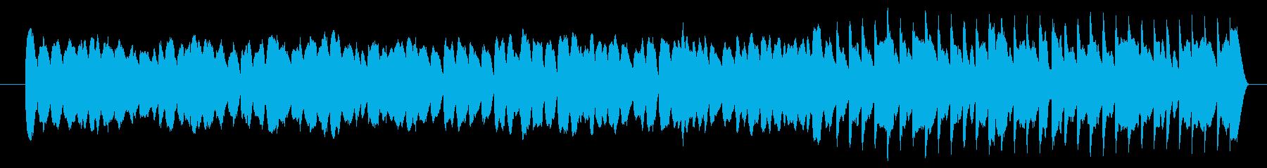弾むイメージ、可愛いコミカルなシンセの曲の再生済みの波形